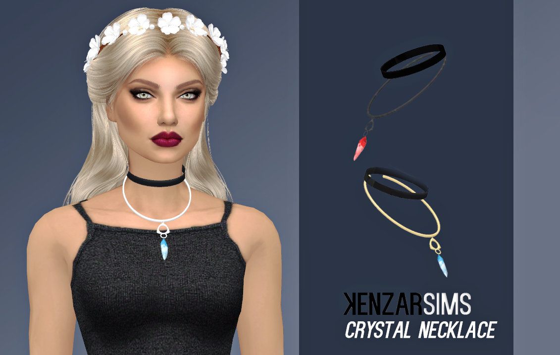 Crystal Necklace by KenzarSims