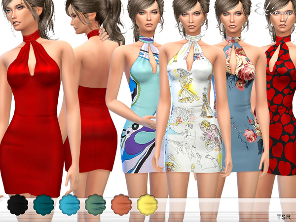 Halter Mini Dress by ekinege