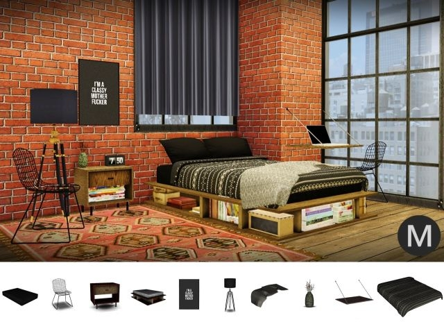 3t4 MS91 Industrial Rustic Bedroom by Maximss