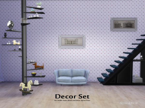 Decor Set for Under Stair Shelfs by ShinoKCR