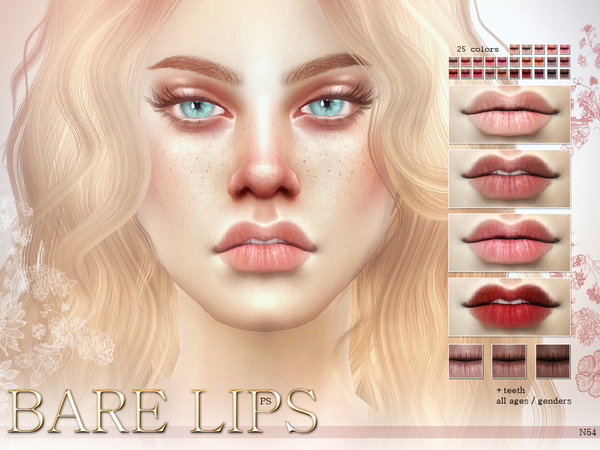 Bare Lips N54 by Pralinesims