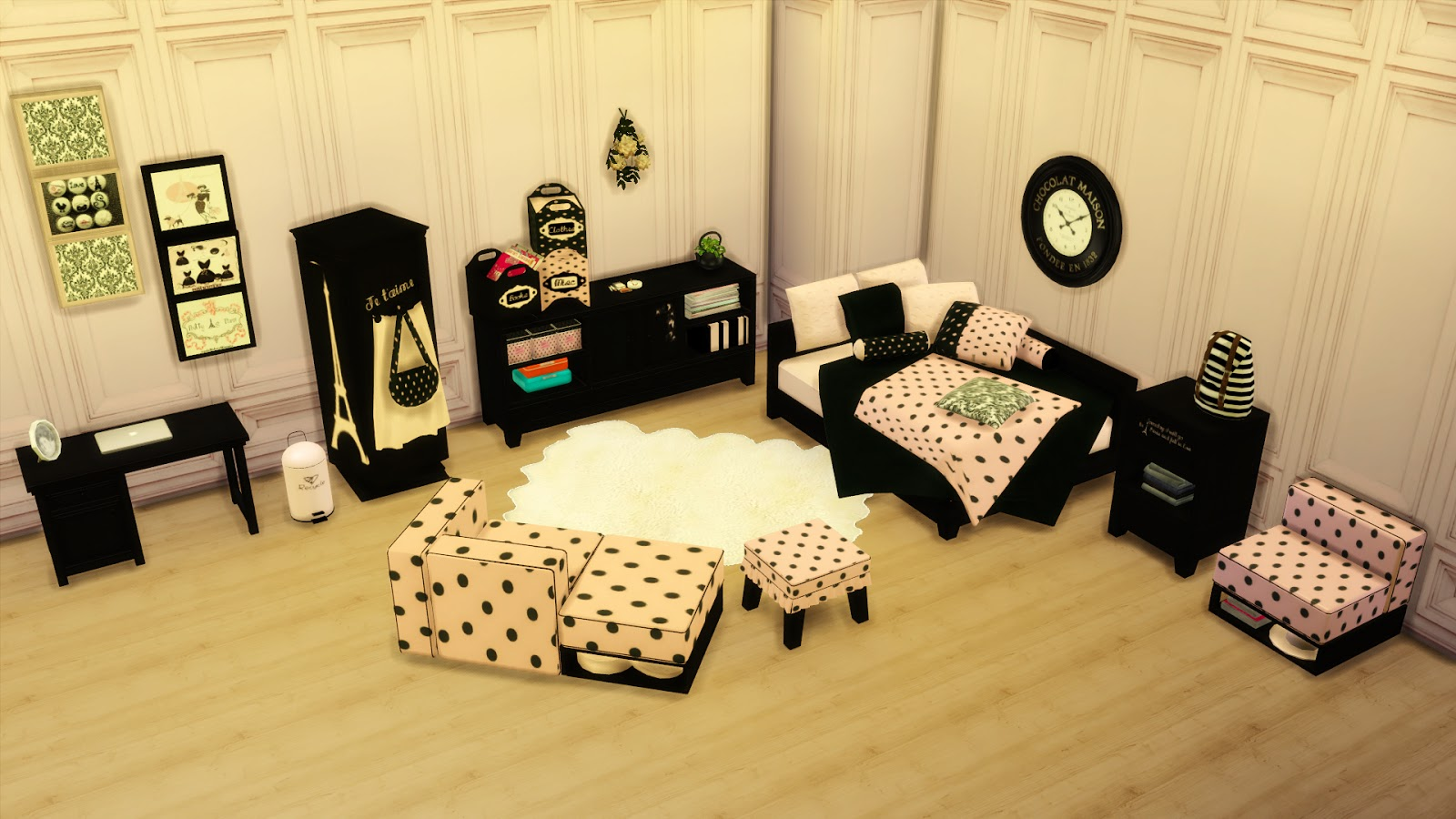 TS2 IKEA Armchairs and Paris Bedroom Conversions by Leo4Sims