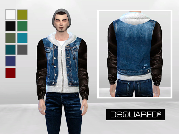 The Icon Denim And Leather Jacket by McLayneSims