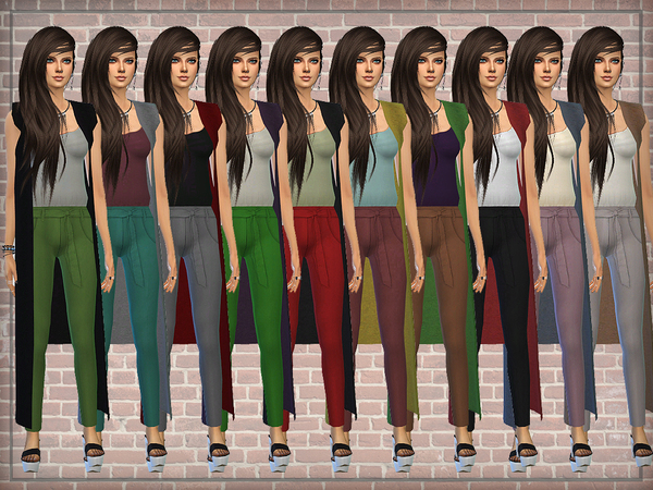 Designer Outfit (Jumpsuit) with Long Cardigan by DarkNighTt