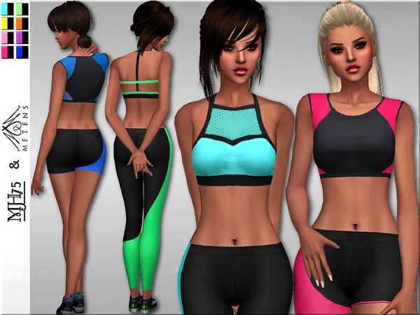 S4 Neon Sports Tops Set by Margeh-75