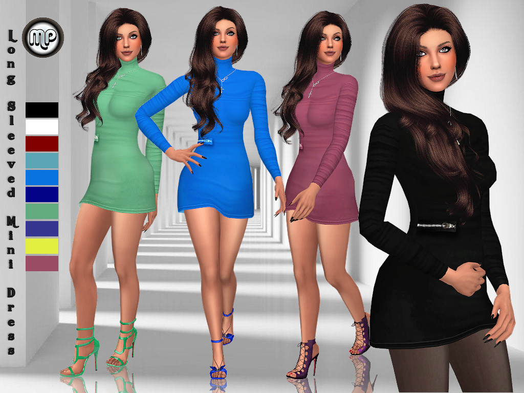 MP Long Sleeved Mini Dress by MartyP