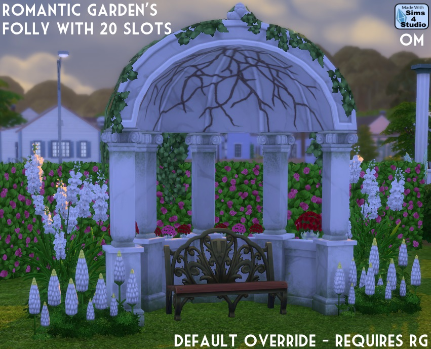 Romantic Garden's Folly with 20 Slots by OM