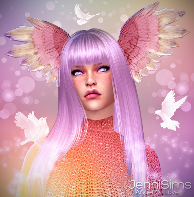 Accessory Angel Of Love (Wing head) Male /Female (5 Swatches) by JenniSims