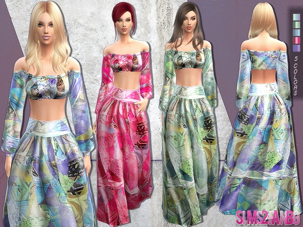134 - Bohemian outfit by sims2fanbg