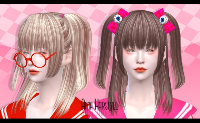 Anna Hairstyle (Sims 4) by Zauma