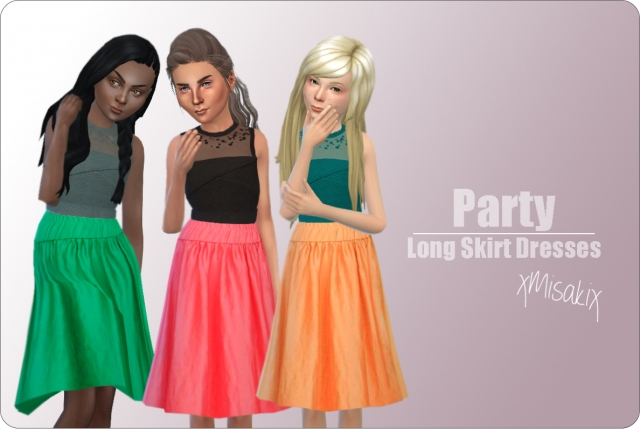 Long Skirt Dresses for Girls by xMisakix
