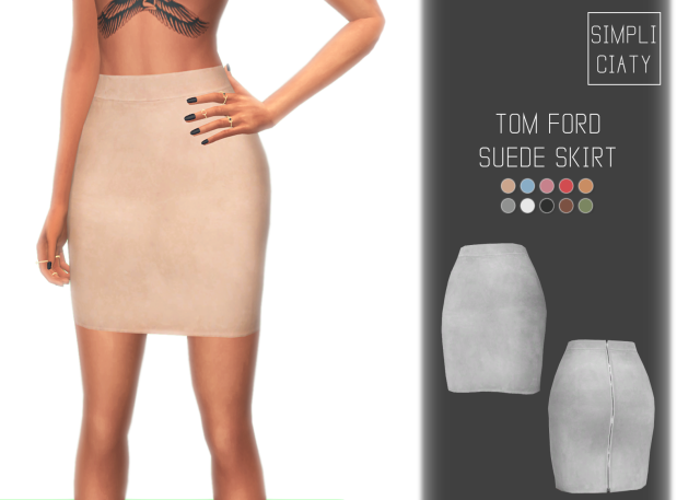 TOM FORD SUEDE SKIRT by simpliciaty