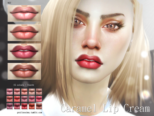 Caramel Lip Cream N57 by Pralinesims
