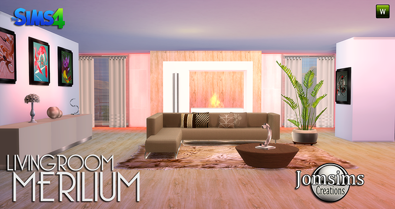 Merilium Living Set by JomSims