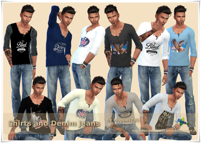 Shirts and Denim Jeans by hoppel785