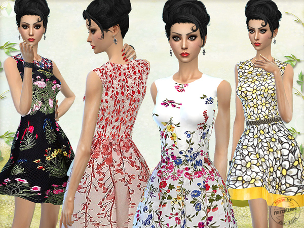 Floral Spring Dresses by Fritzie.Lein