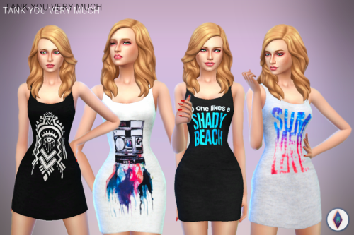 NiteSkky Sims  Clothing, Female : TANK YOU VERY MUCH