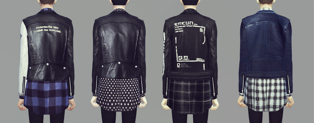 KK Sims  Clothing, Male : Rider Jacket 9set male