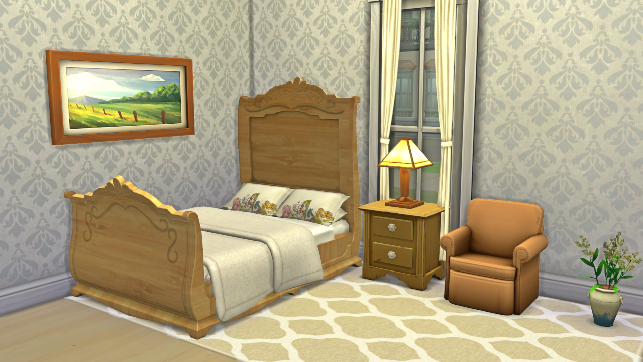 TS3 Country Villa Bed Conversion and Edit by JosieSimblr