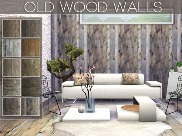 Old Wood Walls by Pralinesims