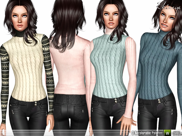Turtleneck Sweater Top by ekinege