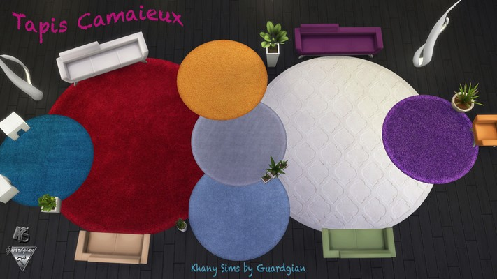 Khany Sims  Objects, Decor : Camaieux rugs by Guardgian
