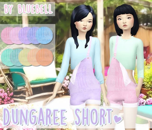 Dungaree Short by Bluebell