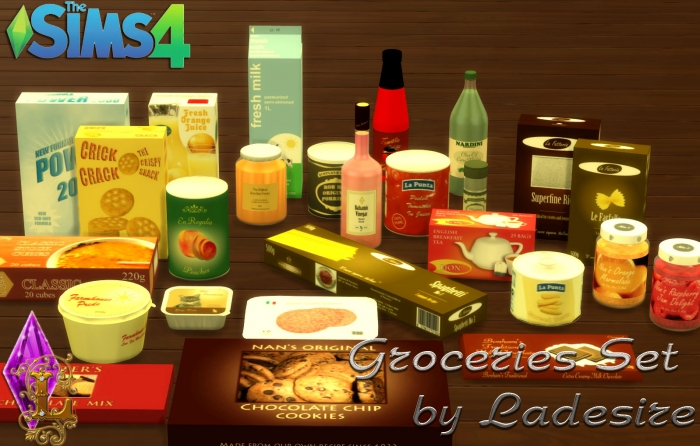 Groceries Set by Ladesire