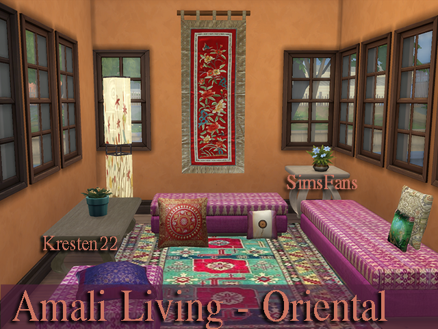 Amali Living - Oriental Collections by SimsFansCreations