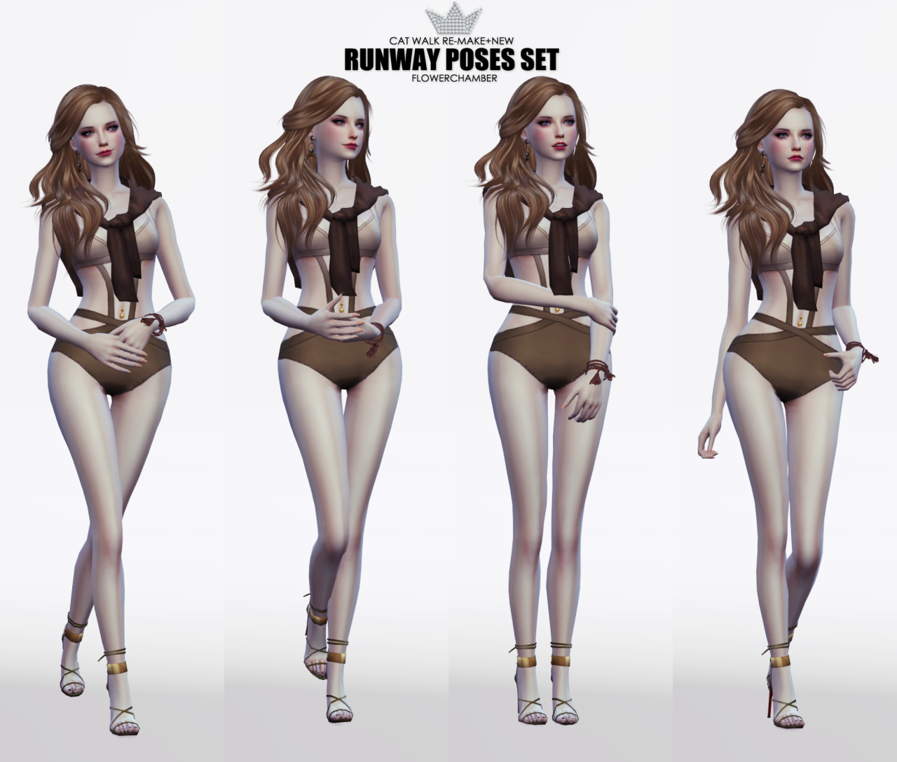 RUNWAY POSES SET by FlowerChamber