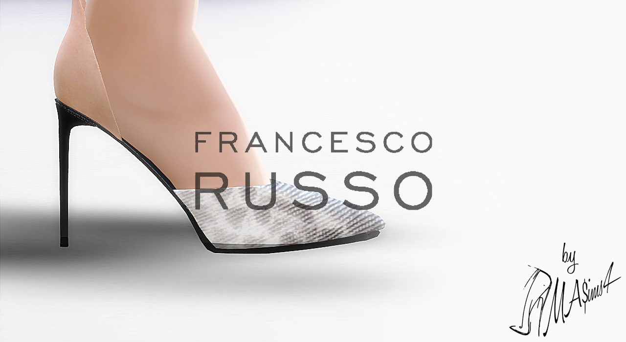 Francesco Russo Snakeskin and Suede Stiletto Sandals by MrAntonieddu