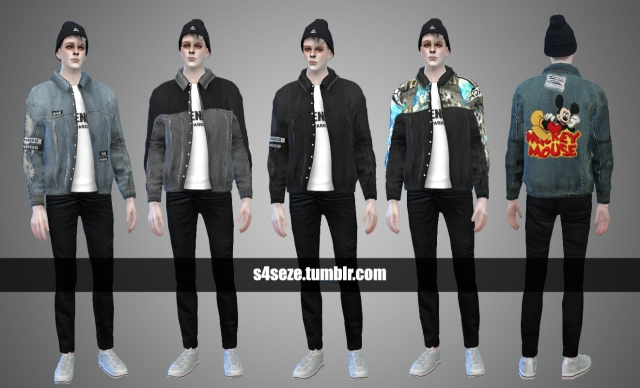 Ripped Denim Jacket for Males by Seze
