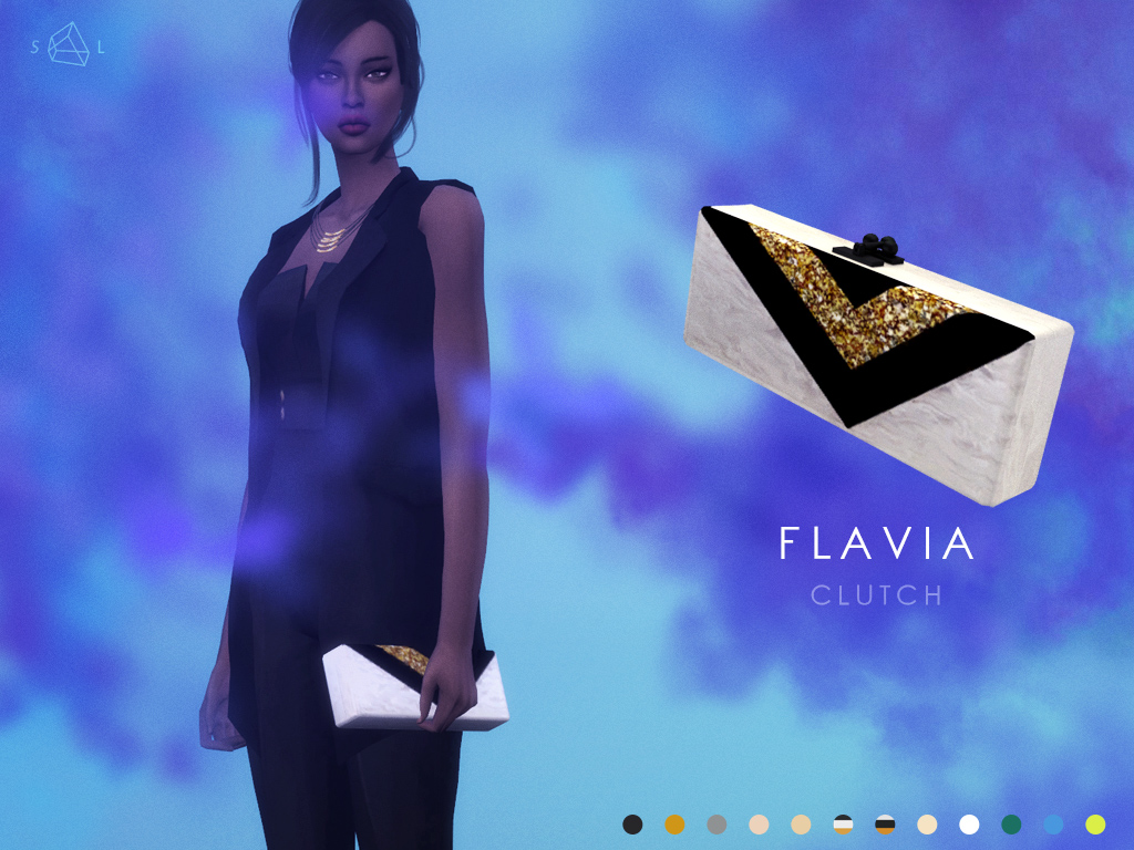 Flavia Clutch in 12 Colors by StarlordSims