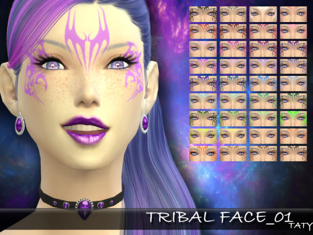 Tribal Face 01 by tatygagg