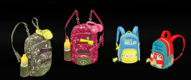 DECO SCHOOL BAGS by leo-sims