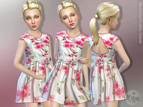 Backless Floral Dress by lillka