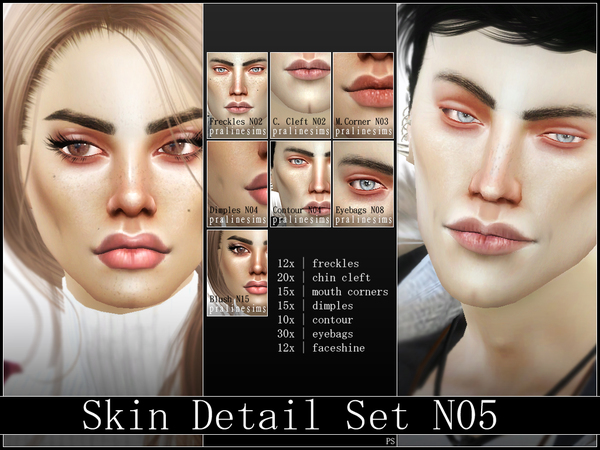 Skin Detail Kit N05 by Pralinesims
