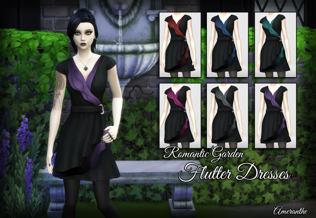 Romantic Garden Flutter Dress Recolors by Ameranthe