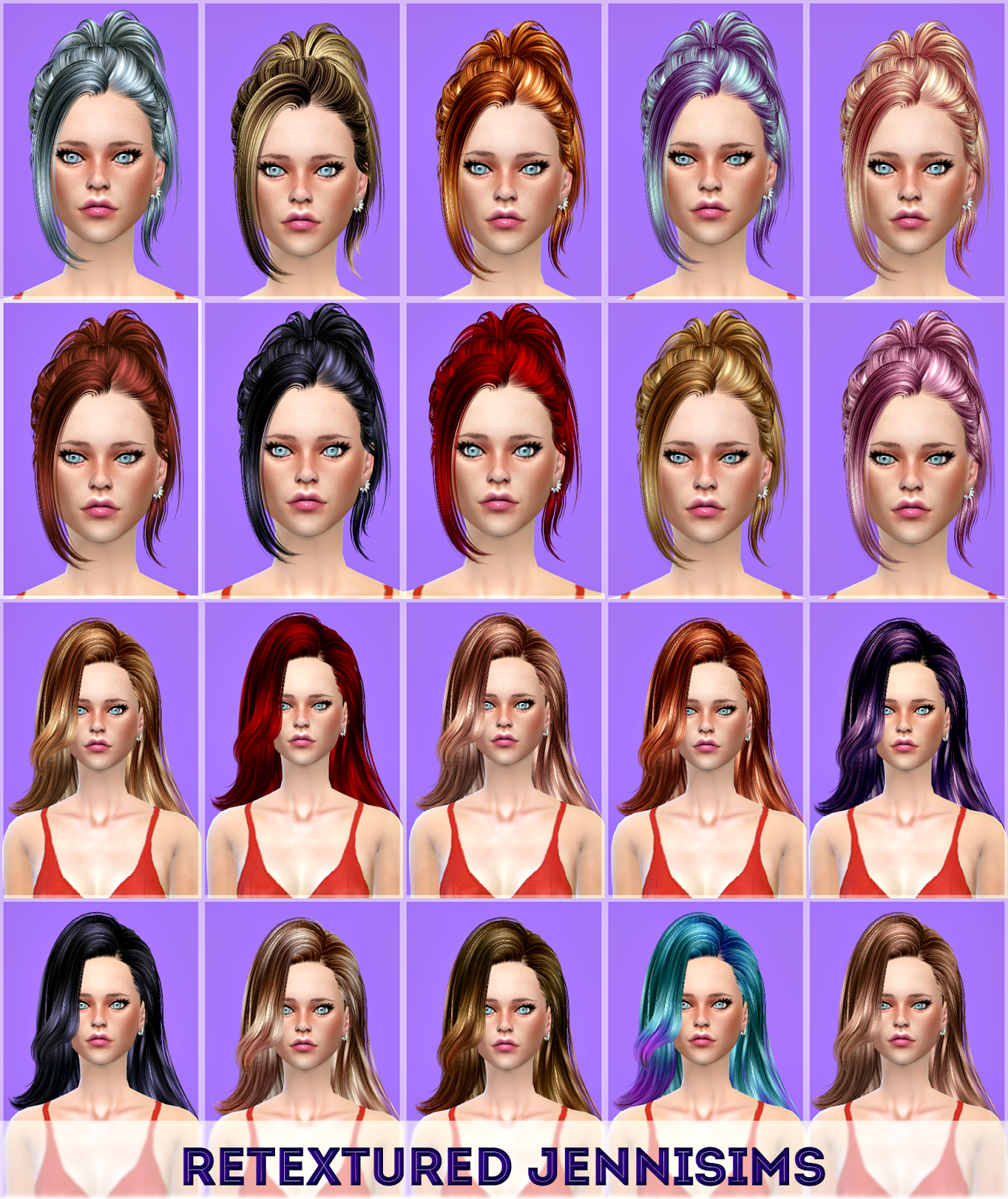Butterflysims 171, 060 Hairs retextures by JenniSims