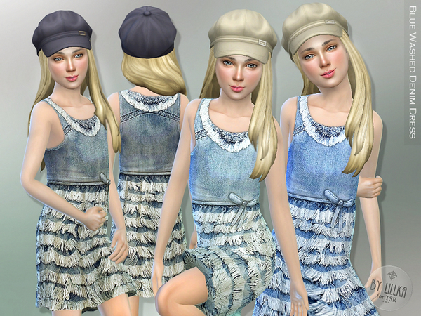Blue Washed Denim Dress by lillka