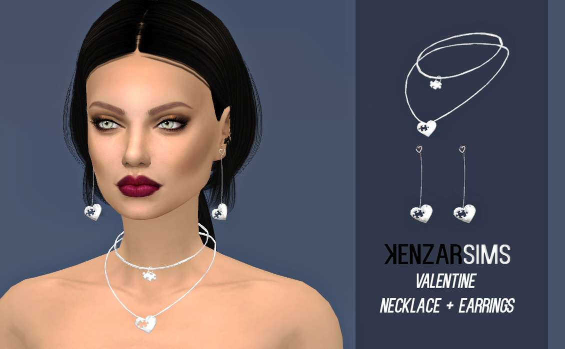 kenzar Valentine Necklace+Earrings
