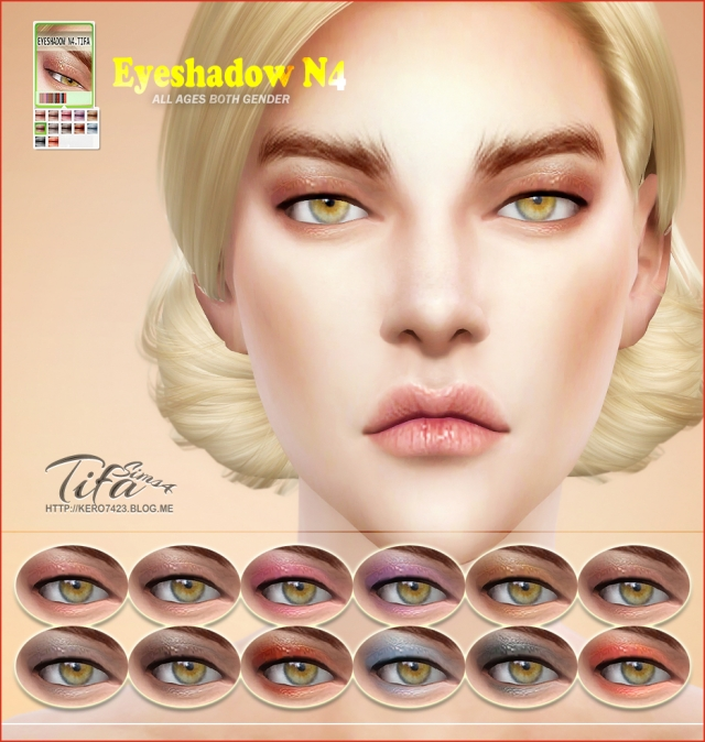 S4 Eyeshadow N4 Male & Female by Tifa