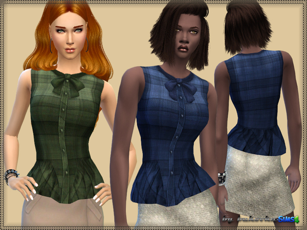 Plaid Blouse by bukovka