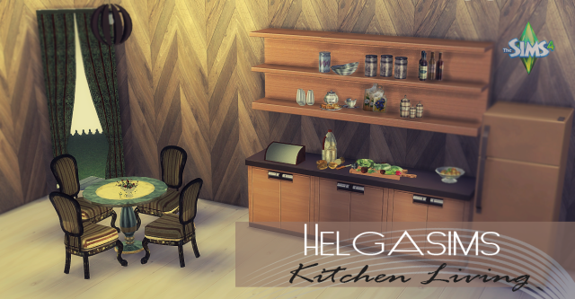 TS2 HelgaSims Kitchen and Dining Set Conversion by Daer0n