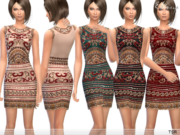 Embellished Mini Dress by ekinege