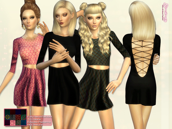 Open Back Lace-up Minimal Dress by Simsimay