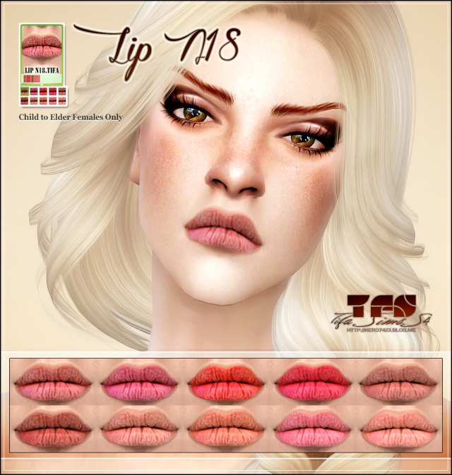 S4 Lip N18 Female by Tifa
