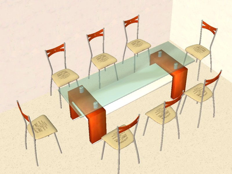 TS2 Rosewood Dining Set Conversion by Anidup1