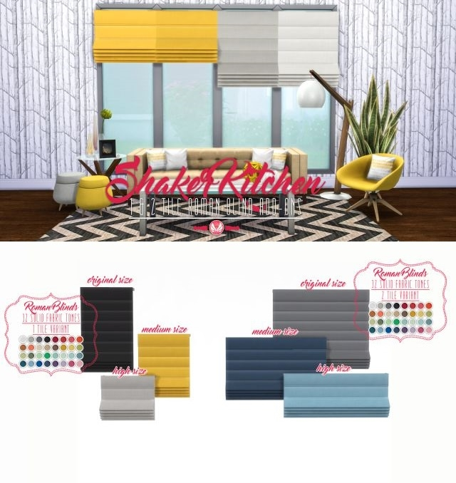 Shaker Kitchen Addons - 1 and 2 Tile Roman Blinds by Peacemaker IC