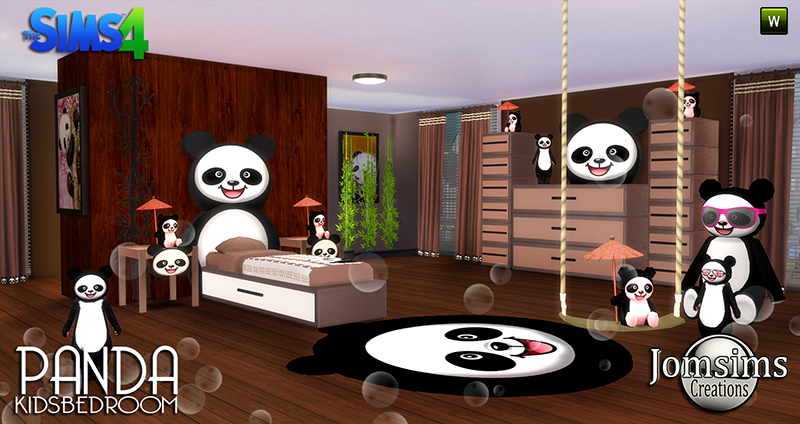 Panda Bedroom Set for Kids by JomSims